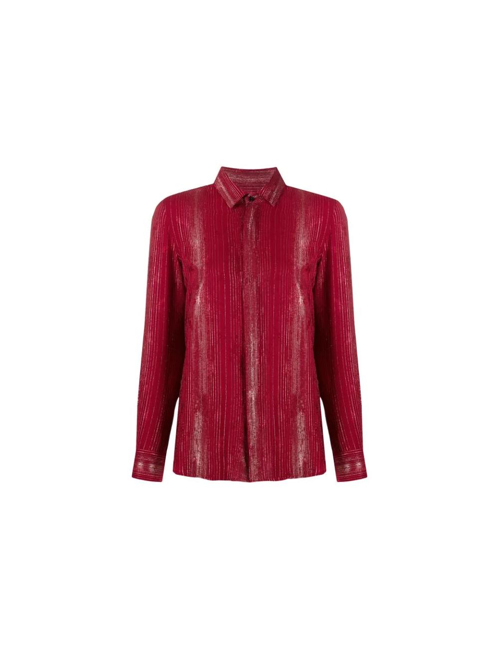 Chemise en soie rouge Saint Laurent - BIG BOSS MEGEVE