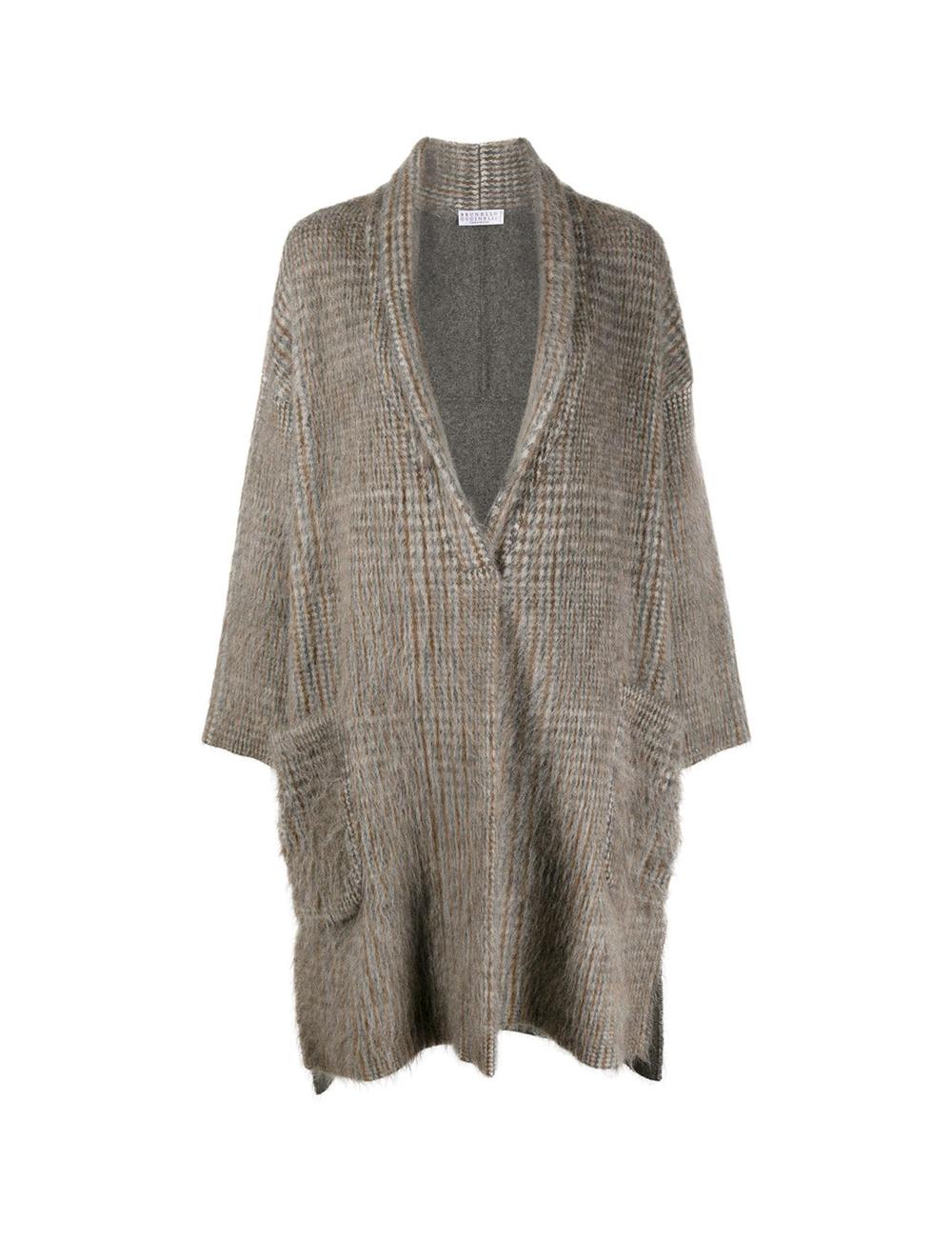 Manteau oversize motif écossais Brunello Cucinelli - BIG BOSS MEGEVE