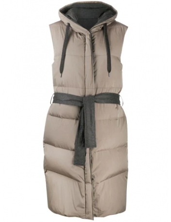 Belted down jacket Brunello Cucinelli - BIG BOSS MEGEVE