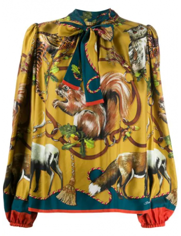 Blouse imprimé animalier Dolce Gabbana - BOG BOSS MEGEVE