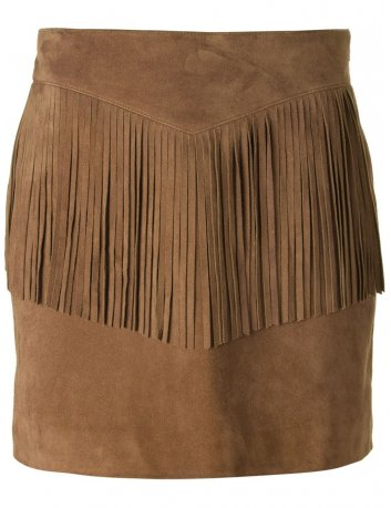 Fringes skirt in skin