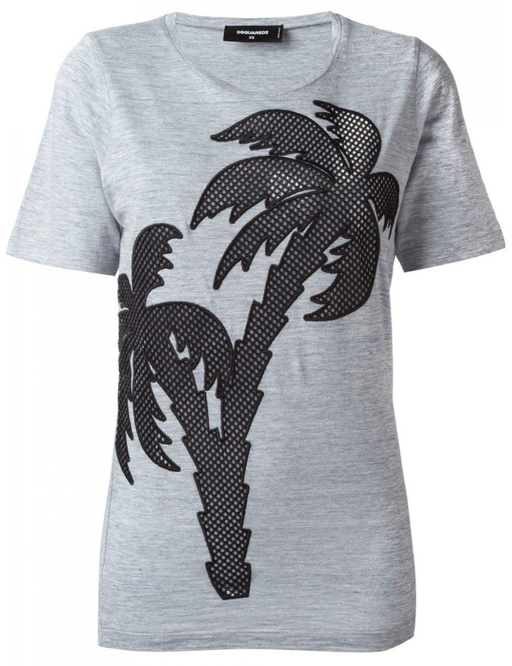 Tshirt palmier Dsquared